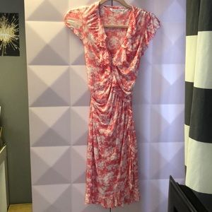 Diane Von Furstenberg Ruffle Wrap Dress